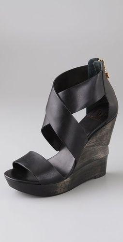 DvF Crisscross Wedge Sandals.