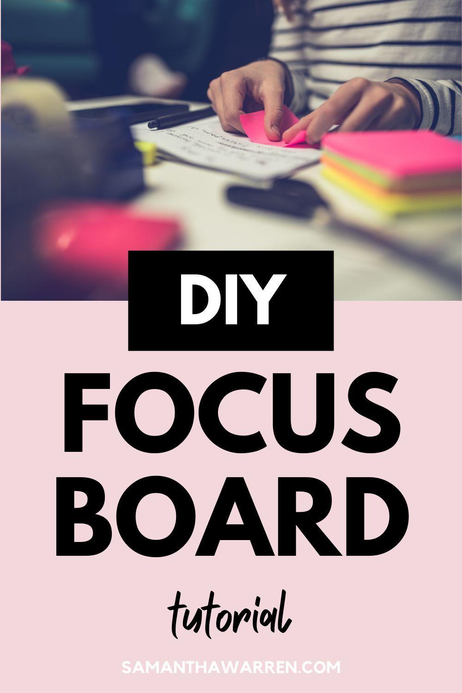 Photo of DIY: Erstellen Sie Ihr eigenes Fokus-Board und erfahren Sie, wie es sich von einem Vision-Board unterscheidet