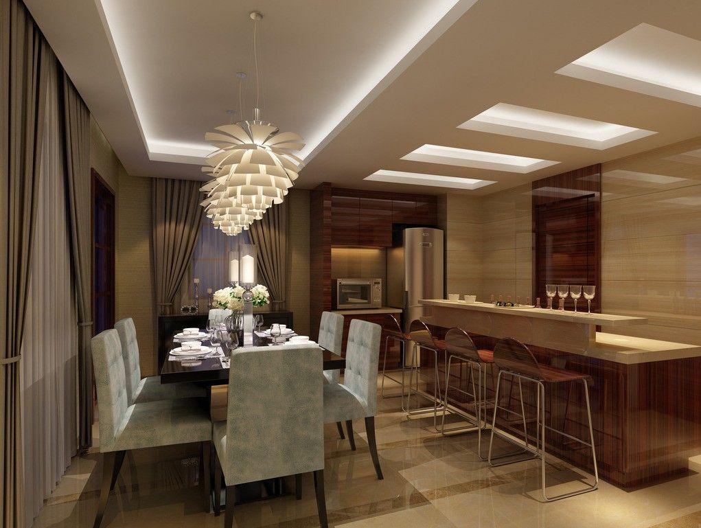 Bronze dining room lighting for luxury interior dining for Small luxury dining room
