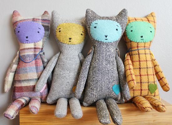 Handmade cat toys.