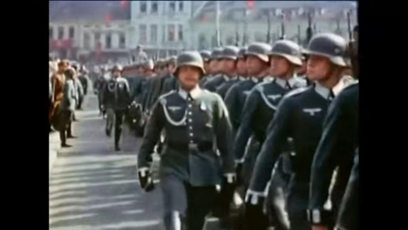 Amazing Rare German WWII Combat Footage In Color (Watch) | war | War