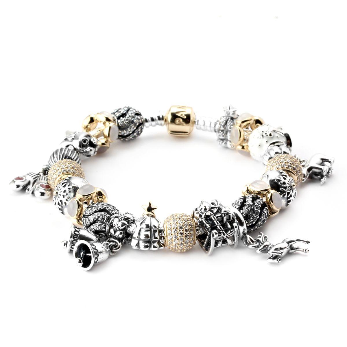 Pandora dreaming of a white christmas bracelet womenus fashion