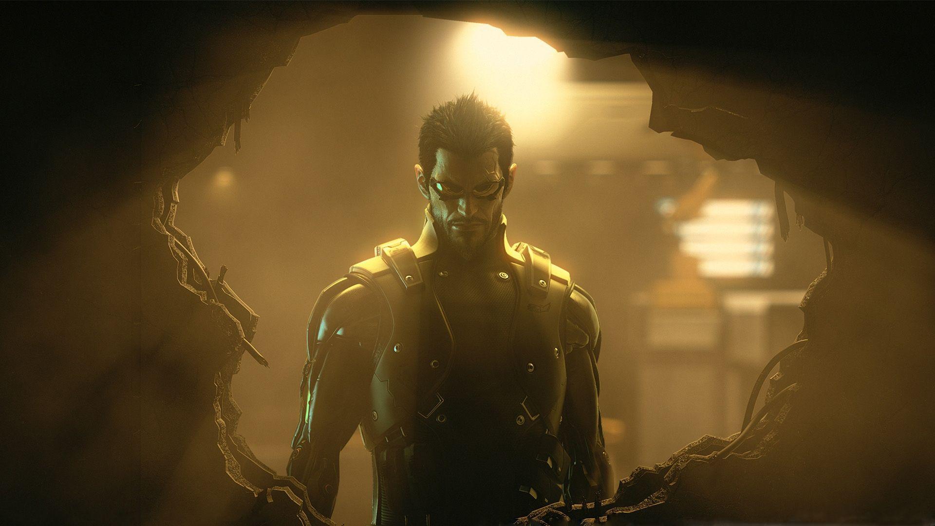Amazing Deus Ex Adam Jensen Light Wall Glasses Wallpaper