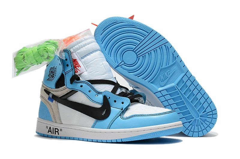 0d14baa54df99e Nike x OFF WHITE Air Jordan 1 Part 2 Mens Womens Blue White Black Shoes  PJ4MXI8O