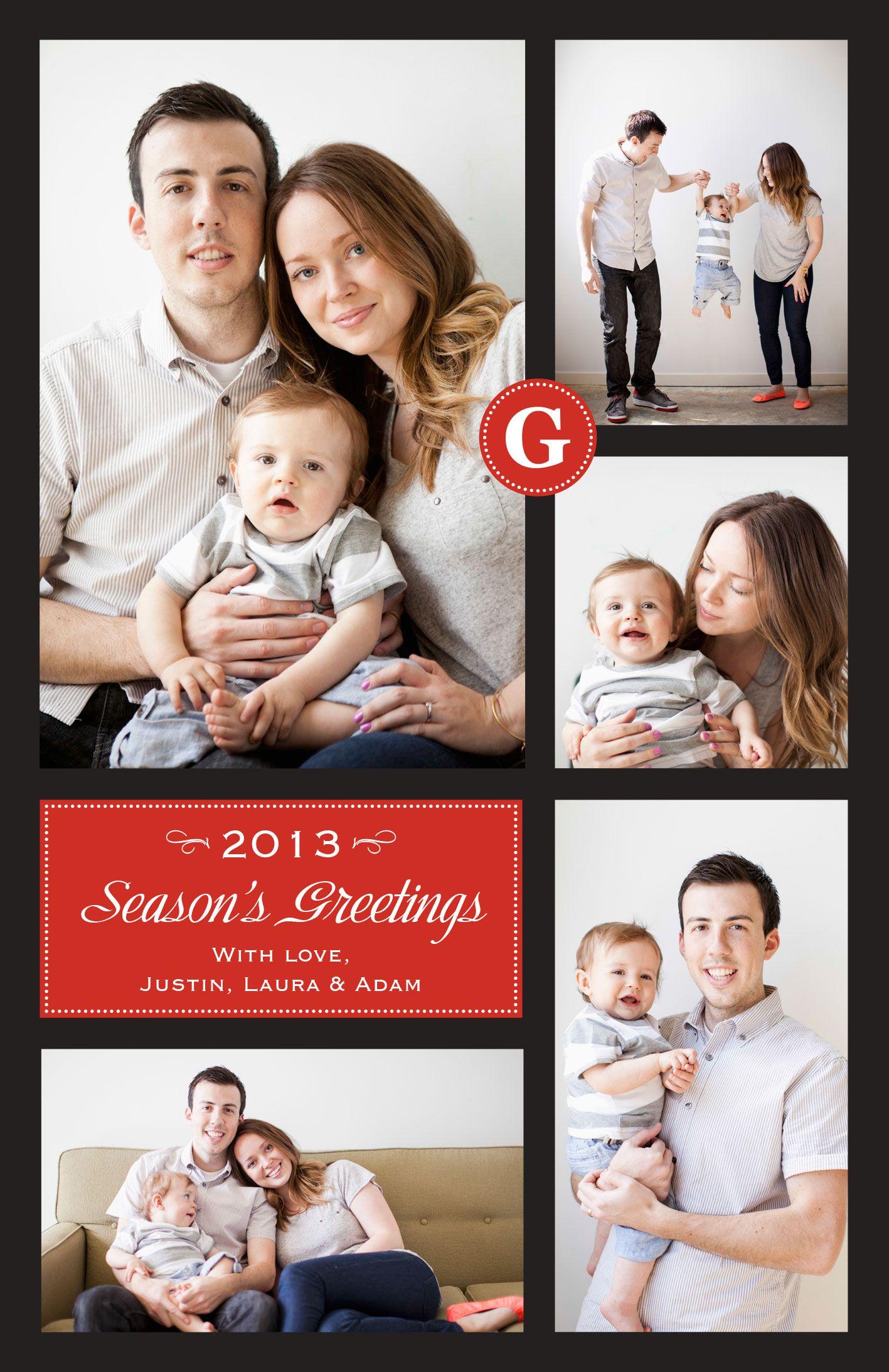 Multi-Photo Holiday Card | Vistaprint | Christmas | Pinterest ...