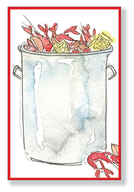 Crawfish Pot Clip Art | Low country invitation in 2019 | Seafood boil, Shrimp boil party ...