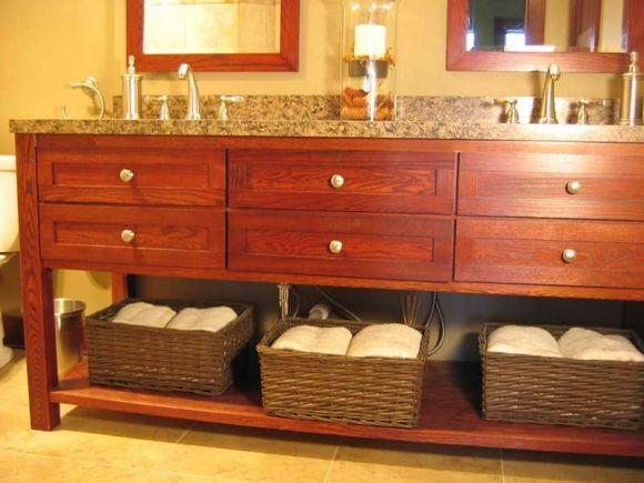 High Low Vanity In Master Bath Freestanding Bathroom Vanity Design - High low bathroom vanity