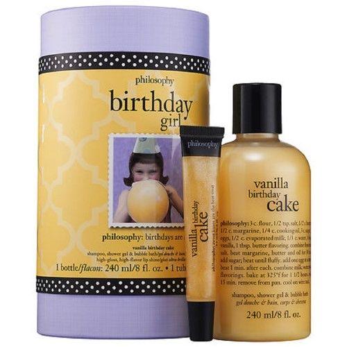 Philosophy Birthday Girl Vanilla Cake 2 Piece Gift Set Clear