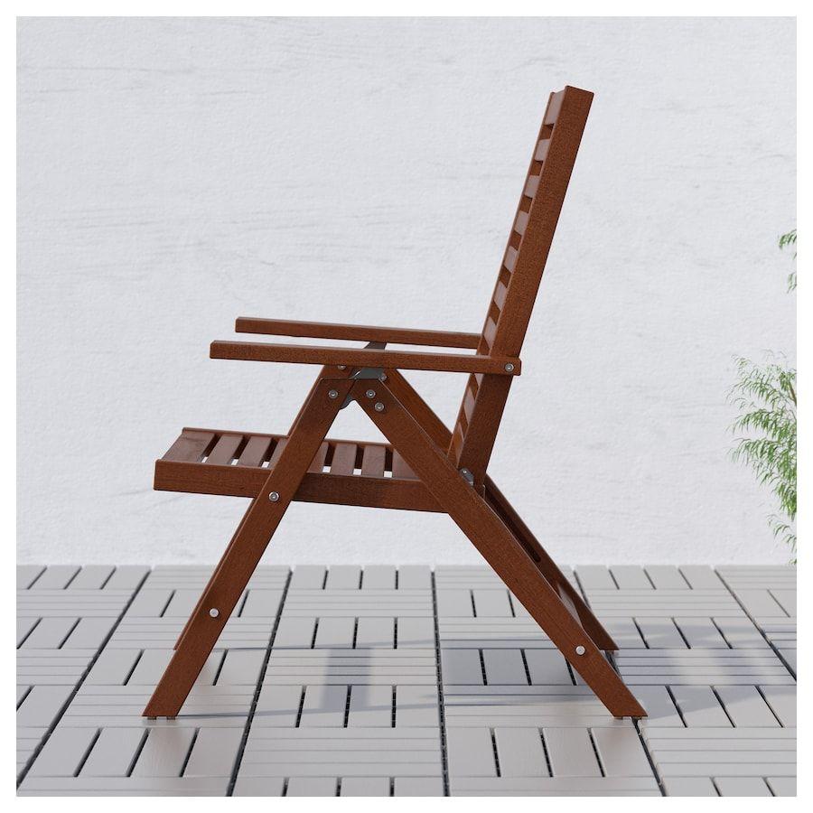 Superb Ikea Applaro Brown Foldable Brown Stained Brown Reclining Creativecarmelina Interior Chair Design Creativecarmelinacom