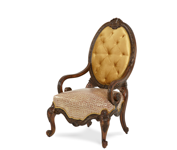 Leather/Fabric Wood Chair - Opt1 | Chateau Beauvais® | Michael Amini Furniture Designs | amini.com