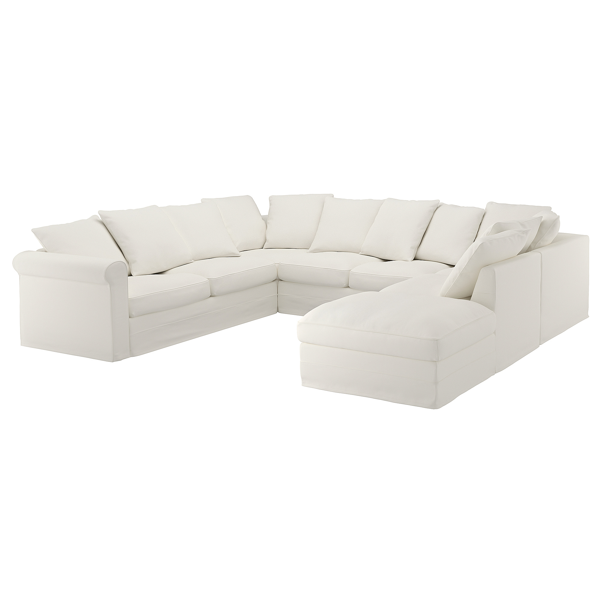Ikea Gronlid Sectional 6 Seat With Open End Inseros White U