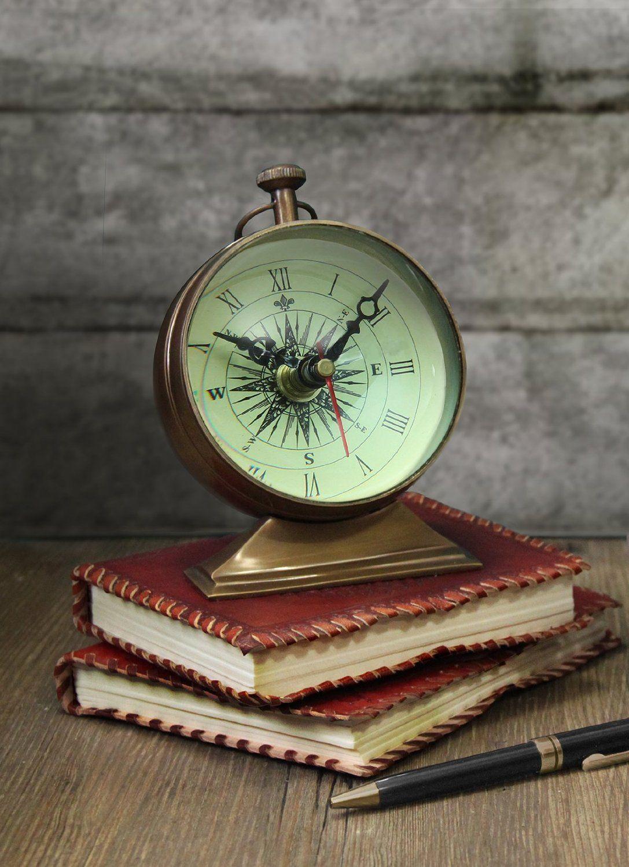 Robot Check Vintage Clock Table Clock Office Desk Decor