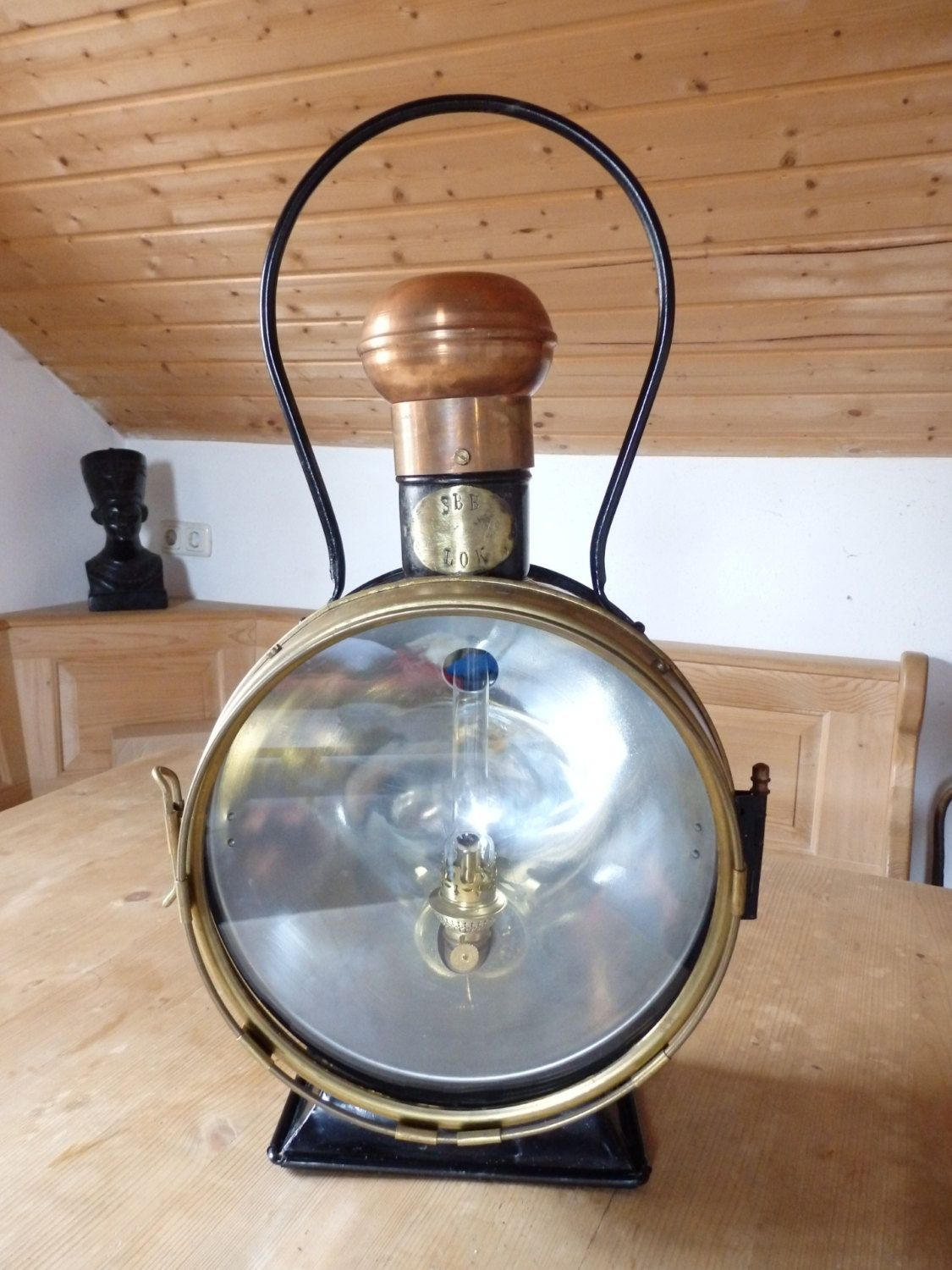 SBB LOK UNGER steam Locomotive train lamp kerosene lamp Oil Railroad Lantern, Bahnlampe, Lok Lampe, Lok Laterne, Bahn Laterne von werorowe auf Etsy