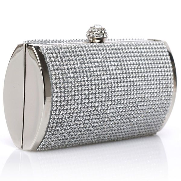 2017 Silver Clutch Party Women Purse Evening Wedding Handbag Rhinestone Clip Bag Unbranded Eveningbag