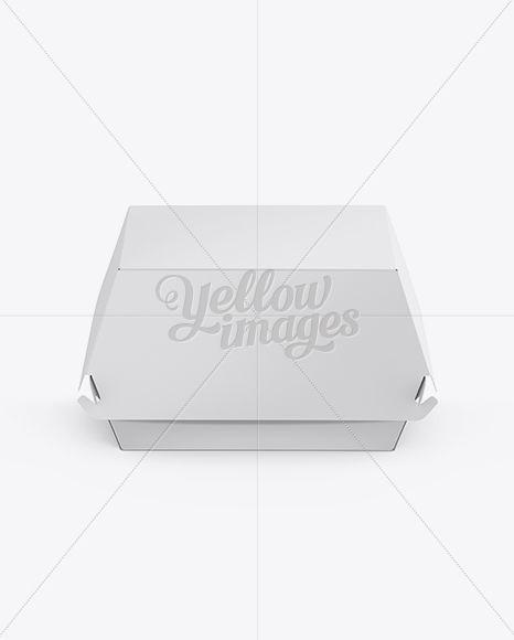 Download Paper Burger Box Mockup Front View High Angle Shot In Box Mockups On Yellow Images Object Mockups Box Mockup Burger Box High Angle Shot PSD Mockup Templates