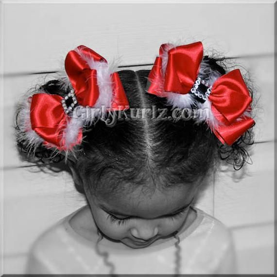 Christmas Hair Bow, Santa Hair Bow, Santa Baby Hair Bow, Christmas Hair Clip, Special Occassion Hair Bow, Hair Bow for Girls #babyhairaccessories