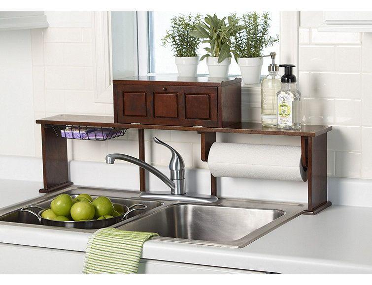 Over The Sink Organizer Shelf #storage #organization #gettington