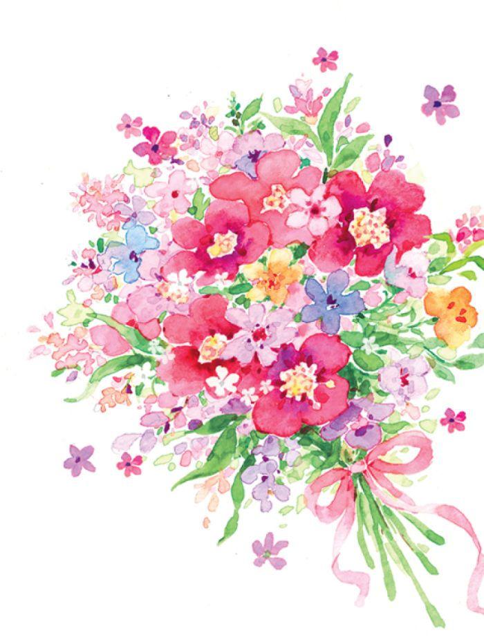 Liz Yee - Bouquet Of Flower | Wallpaper | Watercolor ...
