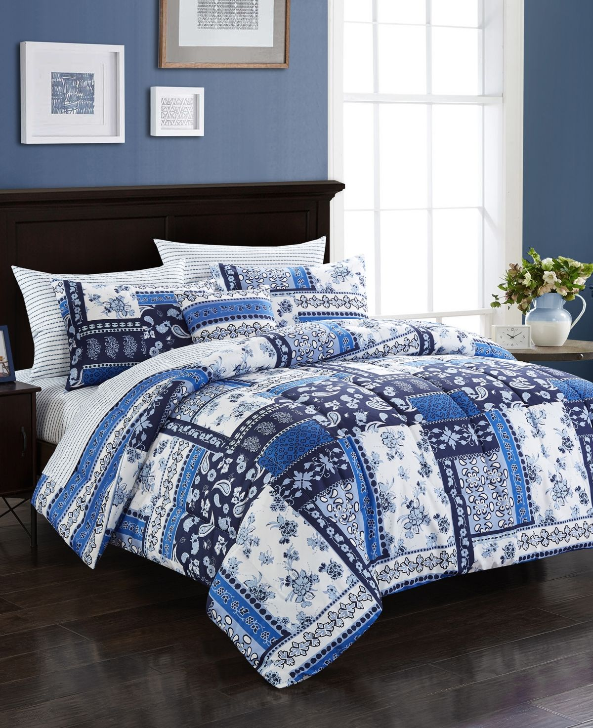 Idea Nuova Urban Living Violet Bedding Set Reviews Bedding Collections Bed Bath Macy S King Bedding Sets Bed In A Bag Queen Bedding Sets