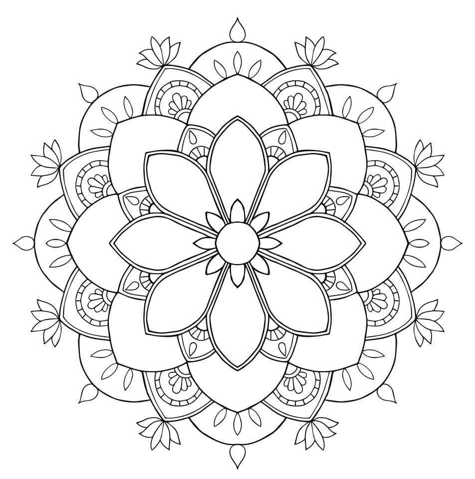 Flower mandala  Mandala muster, Mandala vorlagen, Mandala malvorlagen