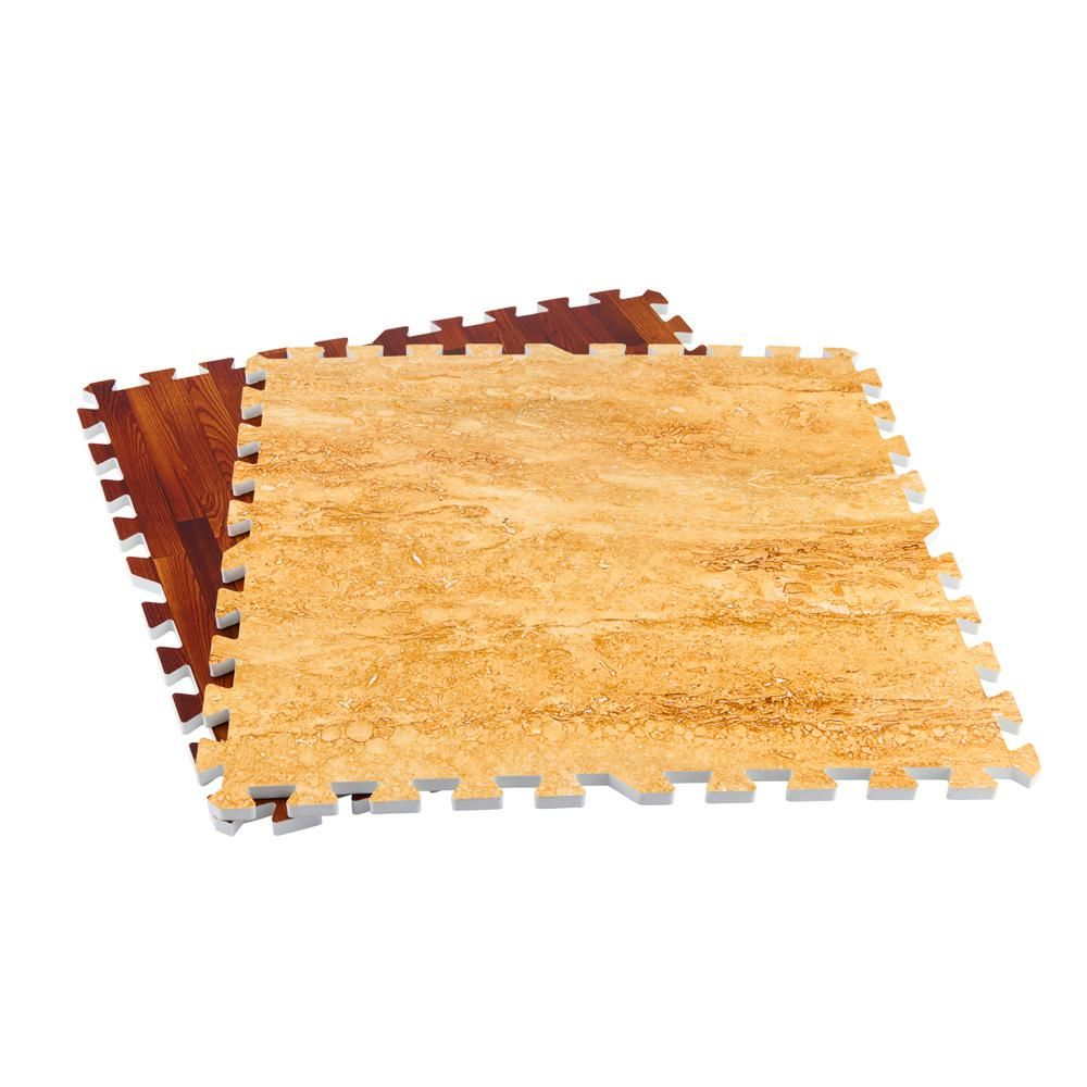 Achim Pine 24 In X 24 In Interlocking Foam Anti Fatigue Tiles 16 Sq Ft Case Fmtl102 06 The Home Depo In 2020 Foam Floor Tiles Foam Flooring Foam Mat Flooring