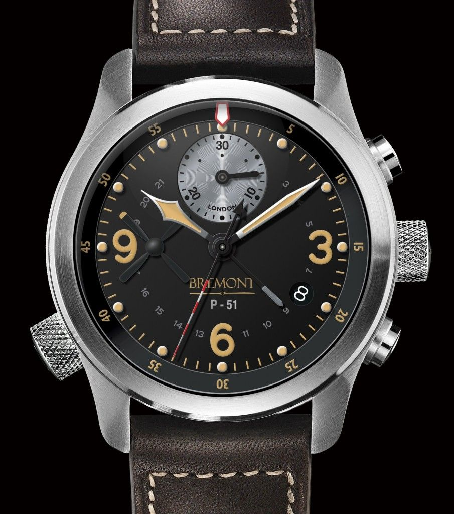 Watch wrist parts - P 51 Front Bbg Mr Bremont Wrist Watches Made From Parts Of Wwii Spitfire Aircraft