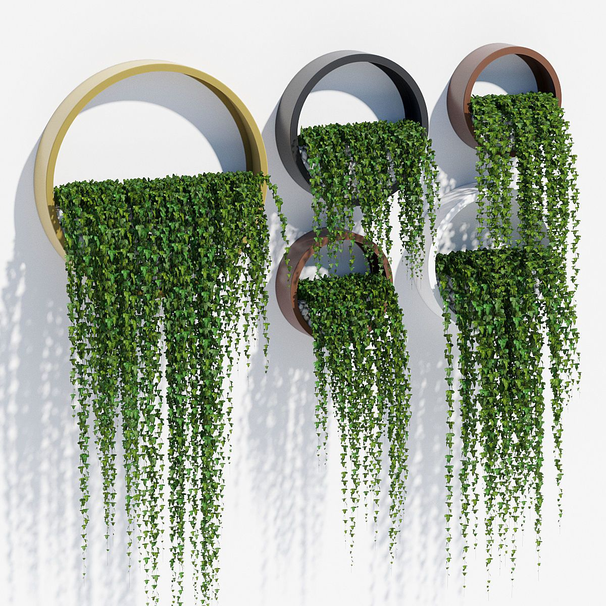 Piante Da Interno 3d.Wall Planters Ivy 3d Model Arredare Con Le Piante Da