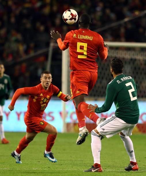 Romelu Lukaku Of Belgium In Action During The