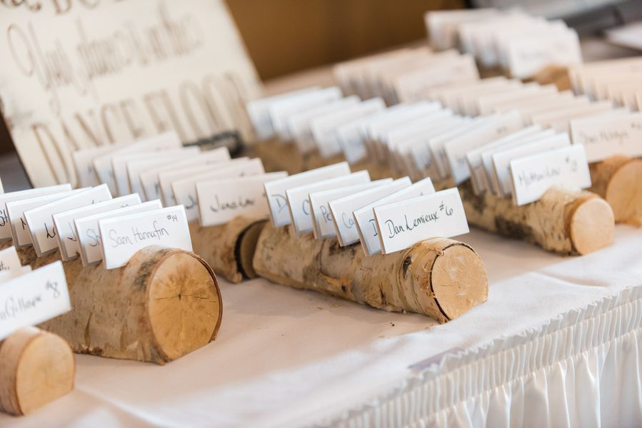 Rustic Wedding Place Card Holder