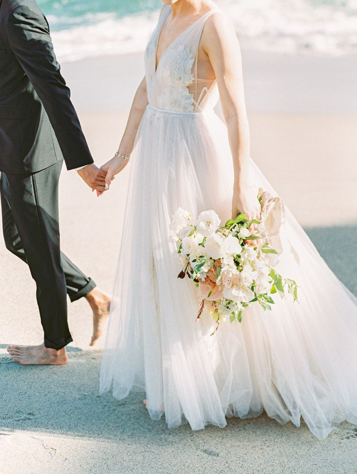Ethereal Coastal Montage Laguna Beach Wedding Editorial #softmakeup