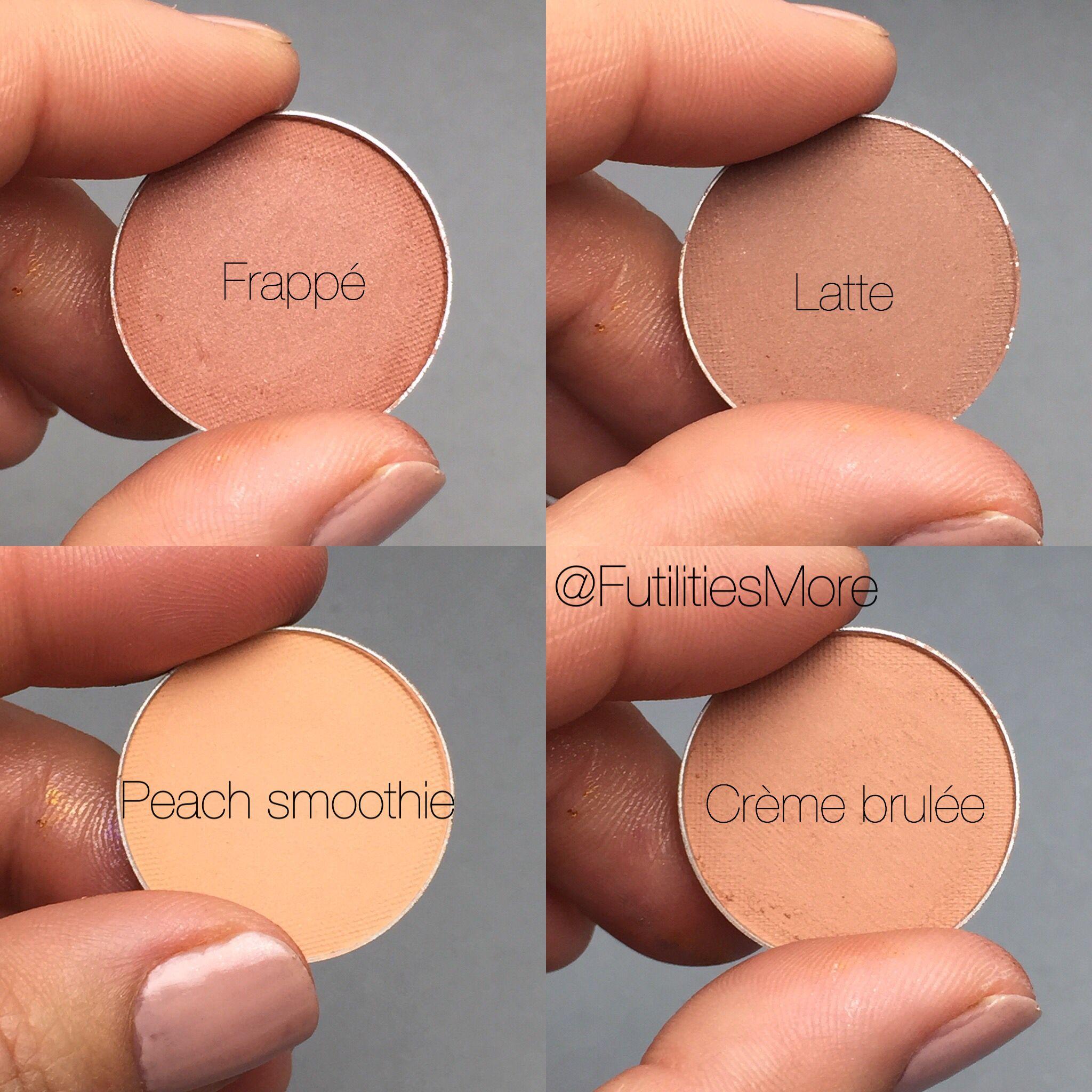 Makeup Geek Brown Eyeshadows Swatches Peach Smoothie Creme Brulee Frappe Latte Makeup Geek Eyeshadow Makeup Geek Makeup Geek Peach Smoothie