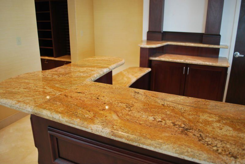 Granite Countertop Designs For Kitchens Imperial Gold Granite Kitchen Countertop Bartop F Granite Countertop Designs Granite Kitchen Gold Granite Countertops