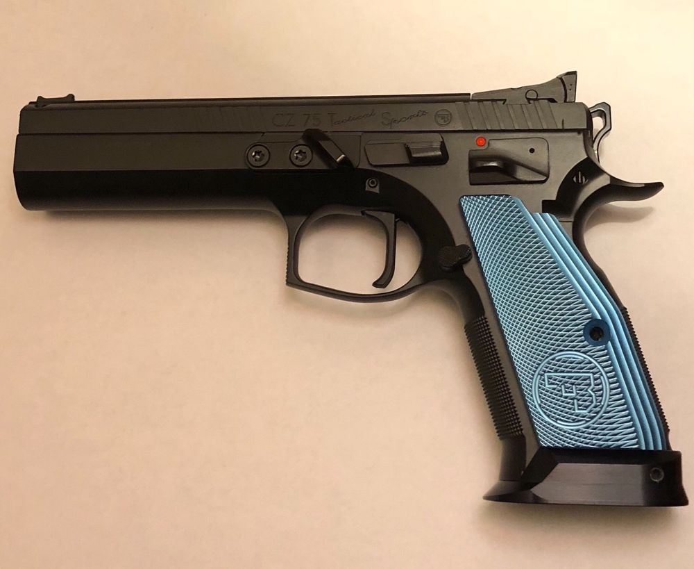CZ 75 Aluminum Grips -SHORT- BLUE shadow 2 tactical sport TS orange