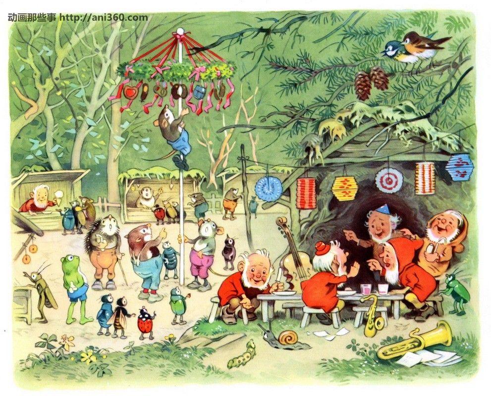 Sommerfest im Mrchenwald  Fritz Baumgarten