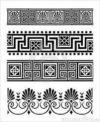Antike Griechische Muster Sinnlose Reihe 6