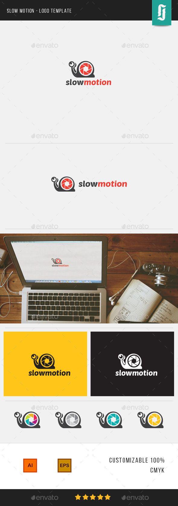 Slow Motion - Logo Template | Motion logo, Logo templates and Logos