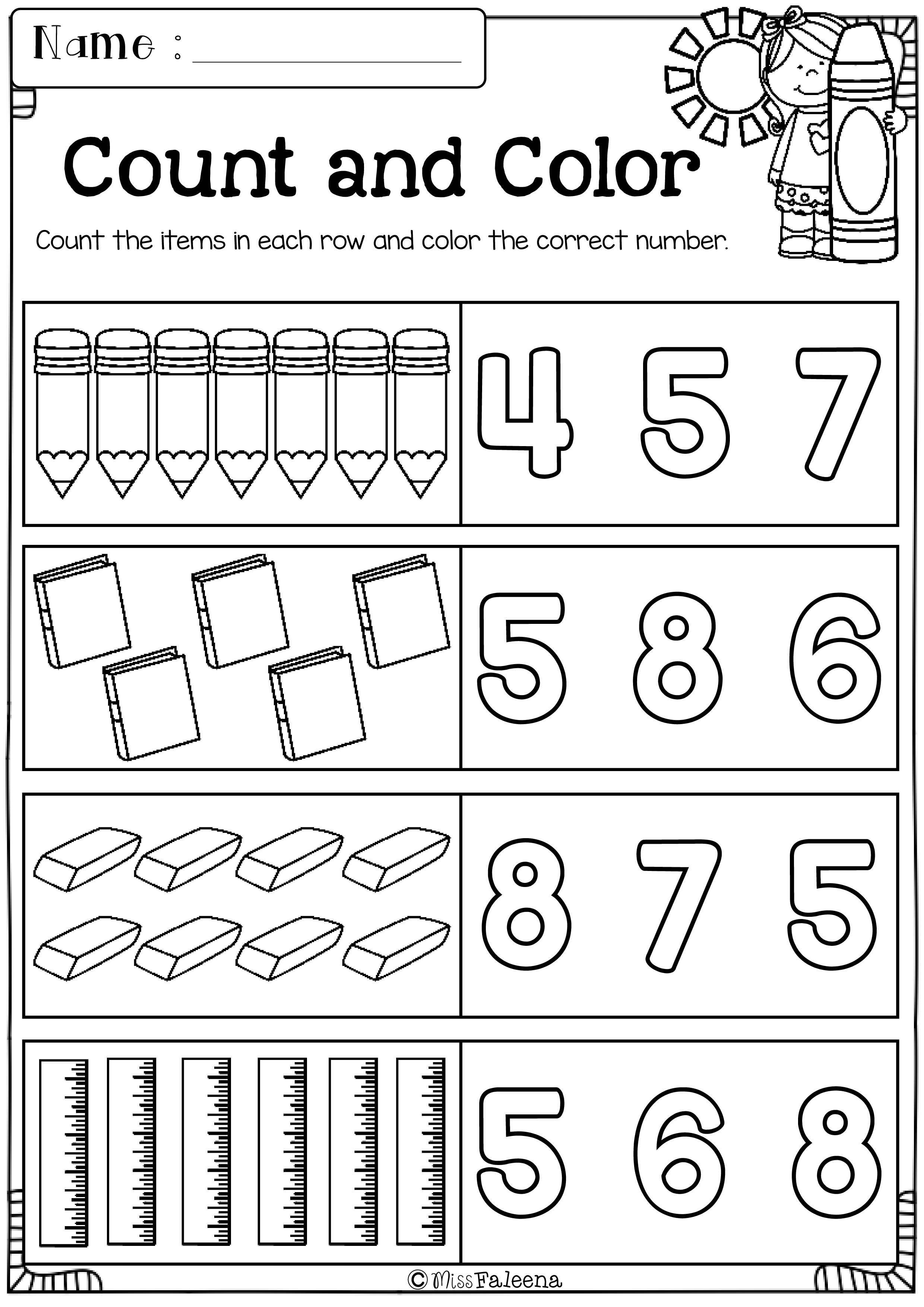 Free Kindergarten Morning Work