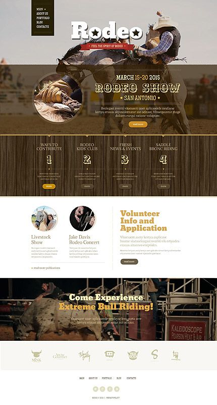 Rodeo Show Website #Drupal #template. #themes #business #responsive