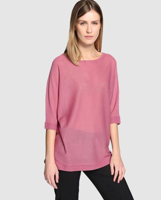 ff7c55754 Jersey rosa de mujer Zendra El Corte Inglés con manga francesa ...