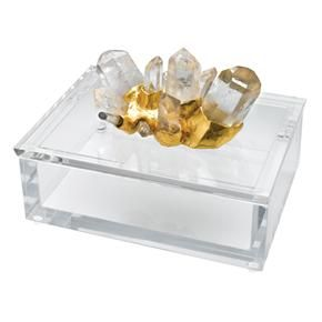 Clear Lucite Box with Rock Crystal Accents Pinterest Crystals