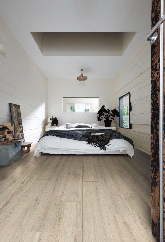 Designboden Kurzdiele Polareiche im Schlafzimmer  Wohnen