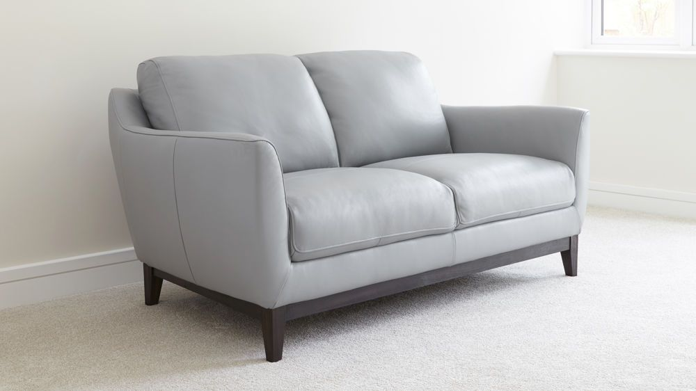 Grey Two Seater Sofa With Images Grey Leather Couch Light Grey Leather Couch Leather Sofa Living Room
