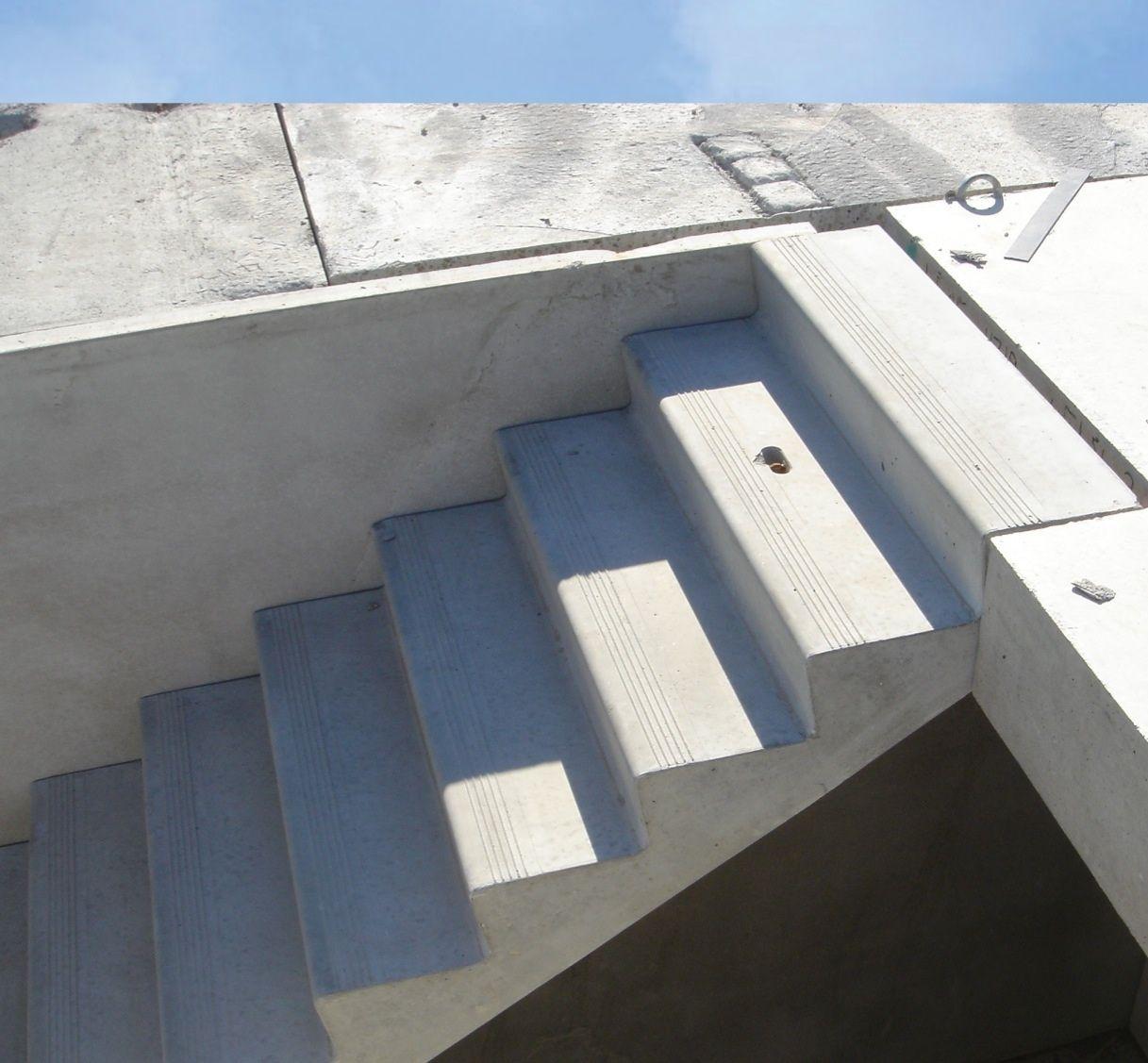 Hollow Core Precast Concrete : Precast reinforced hollow core concrete stair evacuation