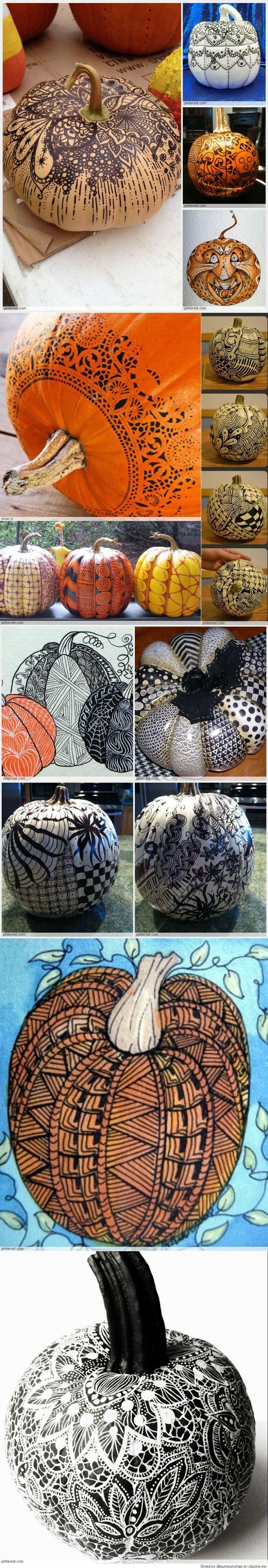 Zentangle Pumpkin Patterns Pumpkin pattern, Halloween