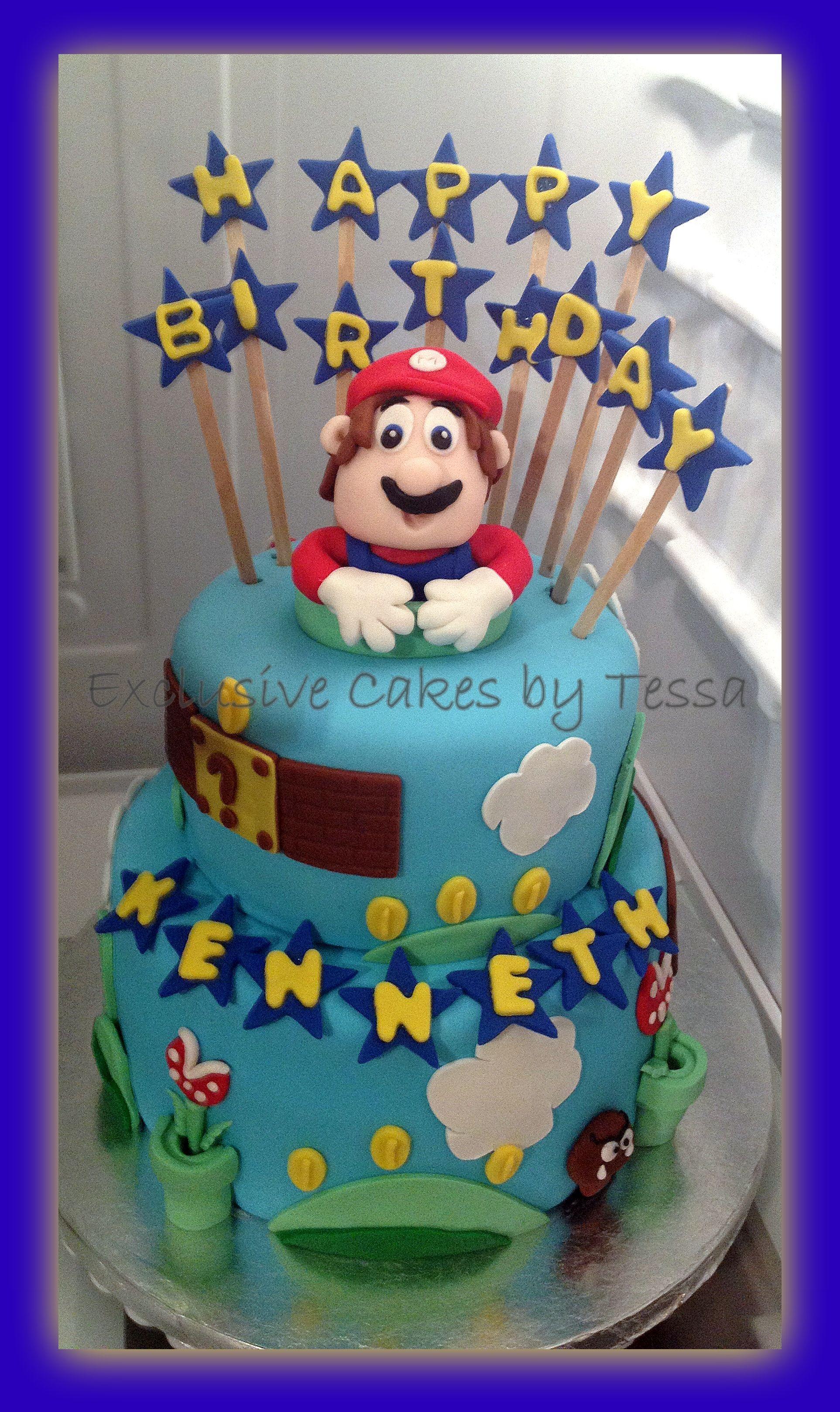 Exclusive Cakes By Tessa Super Mario Bros Birthday Cake Vanilla