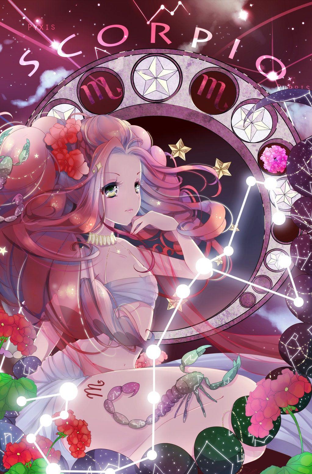 Scorpio Deep And Mysterious Anime Zodiac Constellation Art Zodiac Art