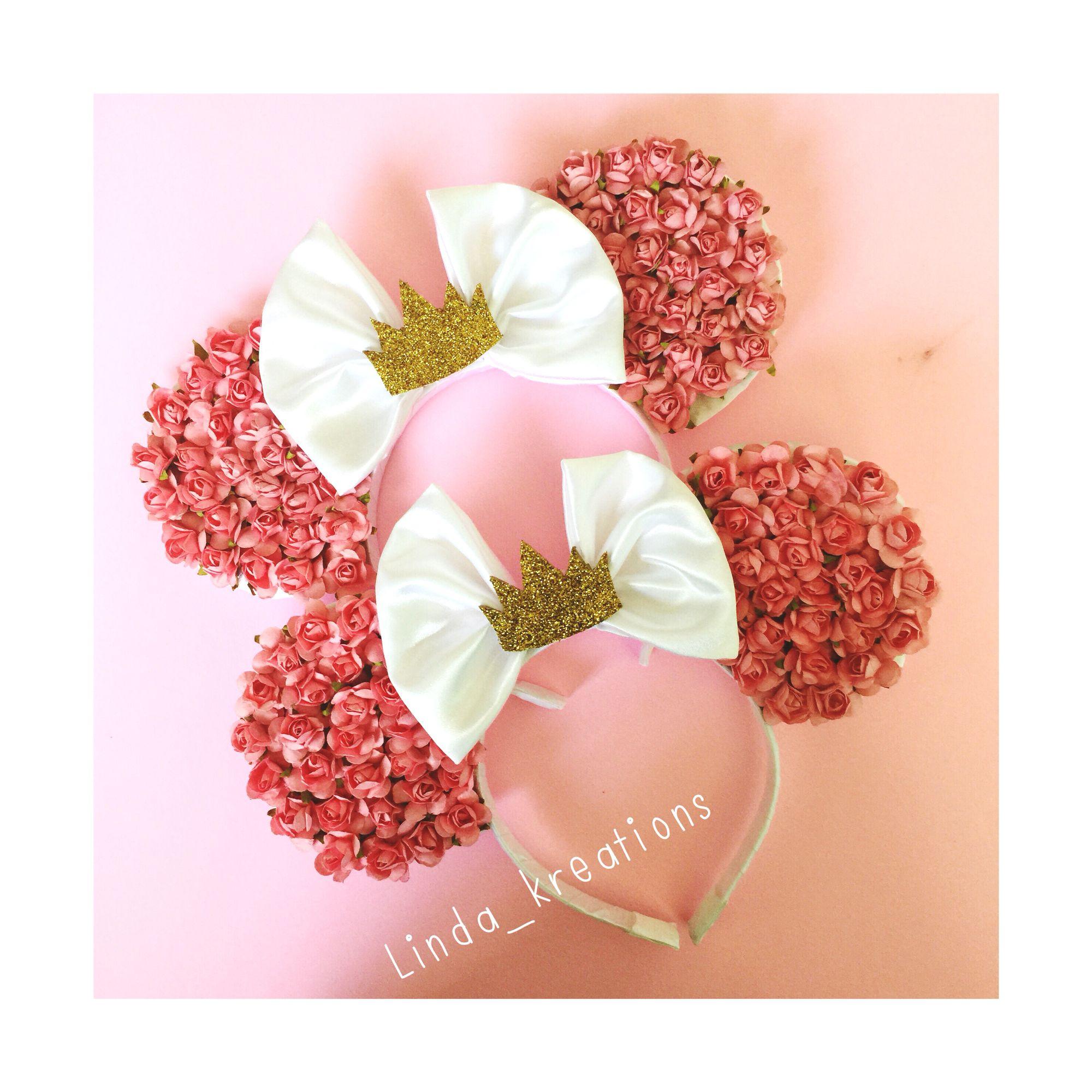 Floral princess #etsyshop  #lindakreations mouse ears