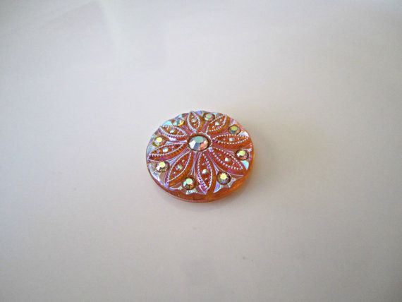 Vintage 25x18mm Hand Painted Qty 2 Textured Floral Limoges FB Glass Cabochons