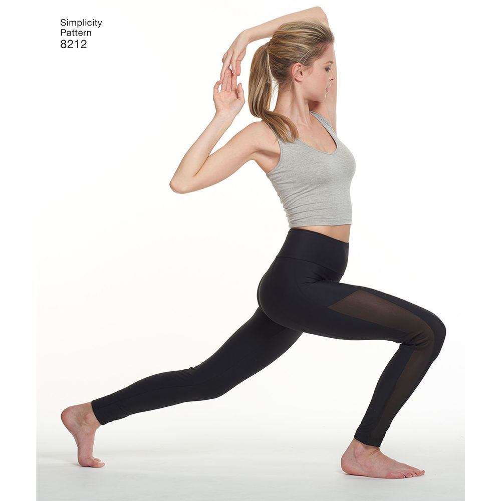 Simplicity 8212 yoga leggings | high waist yay! | To Make | Pinterest