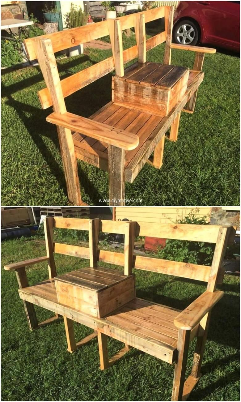 Creative Ideas with Wood Pallets Reusing | Pallet garden benches ...